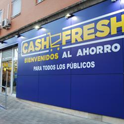 Fachada del Cash Fresh de Estrella Canopus (Sevilla)