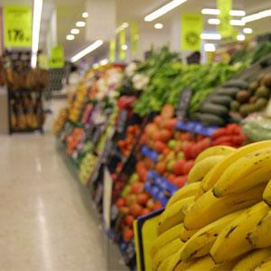 La sección de fruta del Cash Fresh de San Fernando
