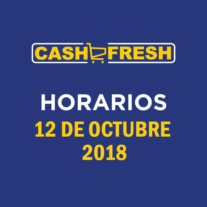 Horarios Festivos 12 Octubre 2018